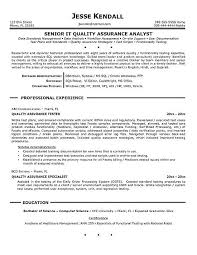 Qa Resume Sample Templates Ecommerce Tester Famous Vision Besides