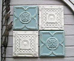 vintage tin tile wall art