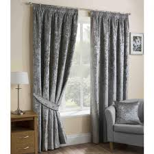sundour re thermal lined pencil pleat curtains silver