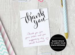 Business Thank You Note Cards Printable Thank You Cards Etsy Seller Thank You Packaging Etsy