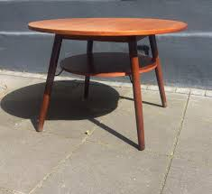 Floating Coffee Table Round Teak Coffee Table With Floating Magazine Shelf 1960s For