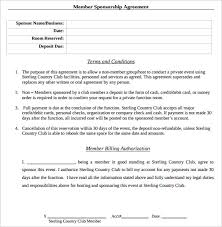 sponsorship agreement sponsorship contract template