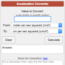G To Rpm Conversion Chart Acceleration Conversion Calculator