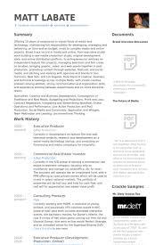 Executive Producer Resume Samples Visualcv Resume Samples Database