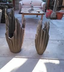 Big Concrete Planters Diy Cement Planters Youtube