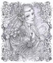 Small Picture 266 best fantasy lady coloring pages images on Pinterest