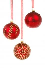 hanging christmas ornaments background.  Christmas Three Hanging Christmas Balls In Hanging Christmas Ornaments Background L