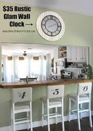 rustic glam wall clock