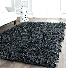 chevron rug black round