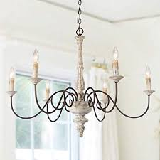 Image Dinner Table Laluz 6light French Country Chandelier Distressed Lighting For Dining Rooms 28h Amazoncom Shabby Chic Light Fixtures Amazoncom