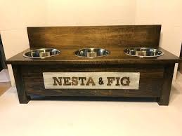 3 bowl dog feeder rustic wooden dog dish stand 3 bowl dog feeder personalized dog bowl raised how to make a 3 bowl dog feeder