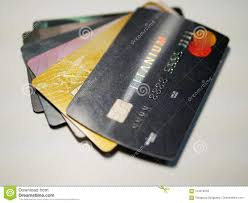 Design Focus Cards Selective Focus Of Mixed Debit And Credit Cards Stock Image