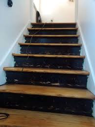 stair risers wallpaper border, stairs, wall decor, Before gouged paint  blotchey surfaces
