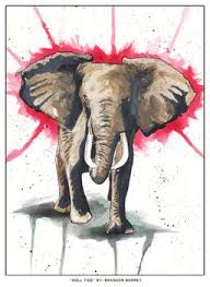on alabama elephant wall art with alabama crimson tide charging elephant by brandon berrey