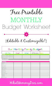 Household Budget Form Household Budget Excel Spreadsheet Free Simple Household Budget