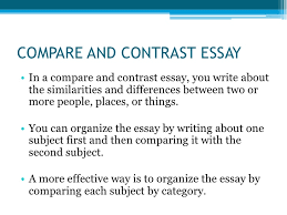 types of essays compare and contrast essay<br