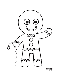 Gingerbread Man Coloring Pages Hwnsurfme