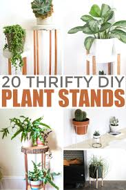 These 20 thrifty diy plant stands are very easy projects you can make  yourself. I