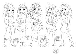 Small Picture Lego friends Birthday Party lego friends coloring Lego girl