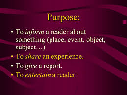 writing a descriptive essay ppt video online purpose to inform a reader about something place event object subject