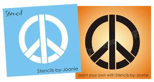трафарет мира хиппи знак символ любви 70 х годов Craft Wall Art футболка татуировки U