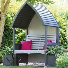 afk cottage arbour wooden garden seat