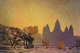 saatchi art artist ryan fox painting watercolor painting of prangs of ruined temple
