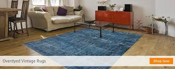 overdyed blue rug vintage rugs and patchwork carpets from intended for decor 11