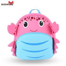 <b>Waterproof</b> School Bags for Girls Cartoon Crab <b>Fashion Printing</b> ...