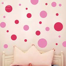 ZN Circle Polka Dots wall stickers Assorted DIY Vinyl home decor for kids  rooms Art Round