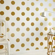 Dotty Gold Behang Behang Goud Stippen Graham Brown