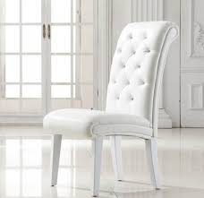 White Leather Dining Room Chairs - Faux leather dining room chairs