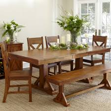 Rectangular Kitchen Tables Furniture Hamdsome Dining Sets With Bench With Seating Set Include