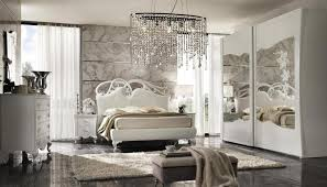 glamorous bedroom furniture. Glamorous Bedroom Decorating Ideas With Crystal Chandelier And Mirror Furniture Using Abstract Wall Design