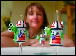 Beads on the Space Shuttle – Go Judy Carlson! – Glass Art