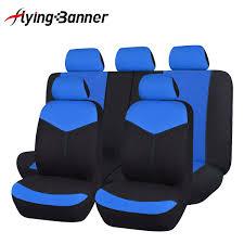 details about car seat covers set universal black blue rear seat 40 60 50 50 split lady suv