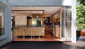 interior accordion glass doors. Accordion-glass-doors-Kitchen-Modern-with-barstool-double-oven-folding-glass -doors-hanging-pots-indooroutdoor Interior Accordion Glass Doors S