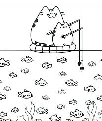 Coloring Pages Awesome Pusheen Coloring Pictures Book The Cat Of