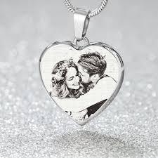 custom engraved 18k gold silver heart
