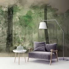 stag forest wall mural