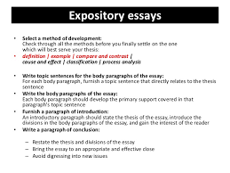 examples of expository essays example of thesis statement for compare and contrast essay