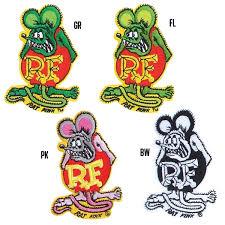 rat fink patch 3 3 4 inch