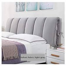 Amazon.com : HTY Detachable Velvet Bed Head Cushion, headboard Soft ...