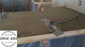 Cement Over Tile Countertops How To Pour A Concrete Countertop Over An Existing Countertop