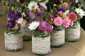 How To Decorate Canning Jars Homemade Mason Jar Centerpieces For Bridal Shower Mason Jar Crafts 26