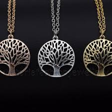 details about tree of life necklace in silver gold rose gold plate mythology pendant charm