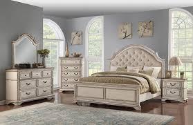 Anastasia Antique White Queen Bedroom Set | The Furniture Mart