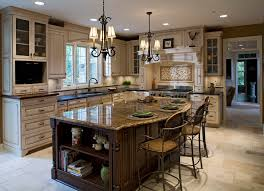 chicago kitchen design. Kitchen, Example Of A Classic Kitchen Design In Chicago With Glass Front Cabinets: Awesome