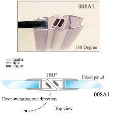 magnetic shower door seal strip sealing pertaining to glass prepare 9