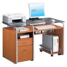 office computer desks. Perfect Office Computer Desk With Rolling CPU Stand  RTA3327  Intended Office Desks